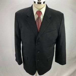 Jones New York Men's Gray Wool Blazer 44S